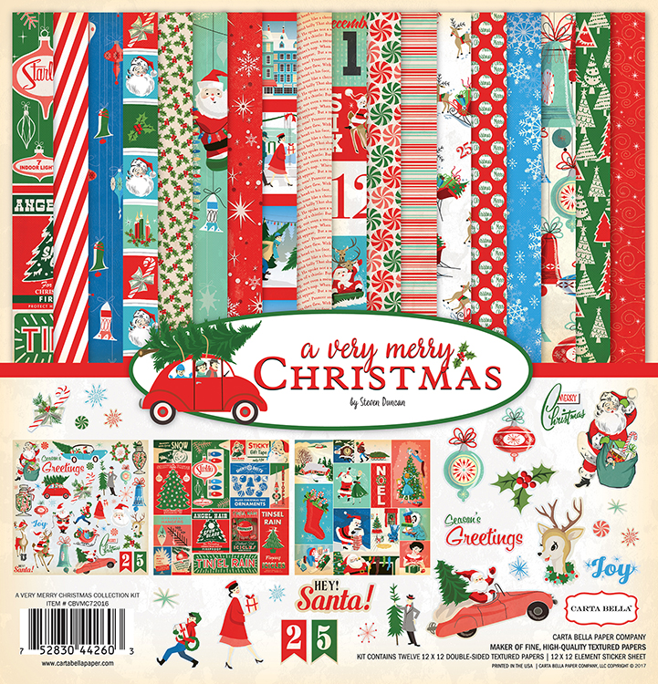 carta bella paper a very merry christmas collection 12 x 12 collection kit