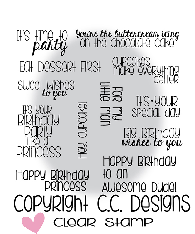 CC Designs Happy Birthday Sentiments