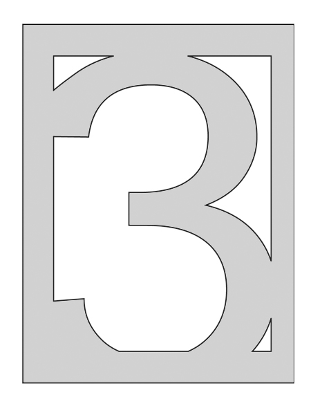 Crafters Workshop Number 3 Template – Number Template