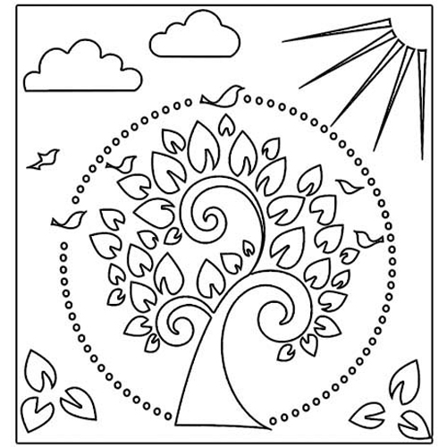 the crafter s workshop 12 x 12 doodling templates tree of life