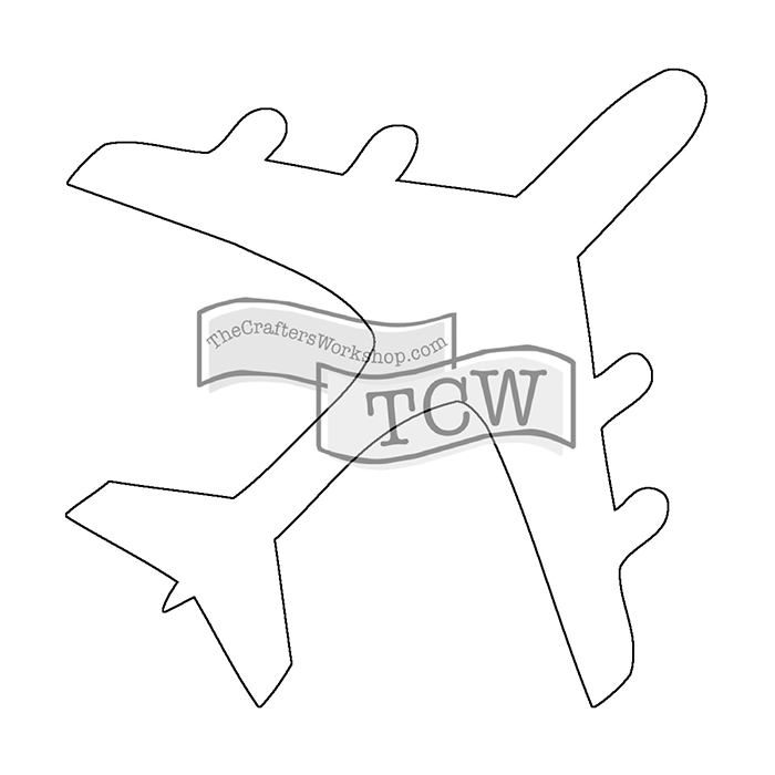 Airplane Drawing Template