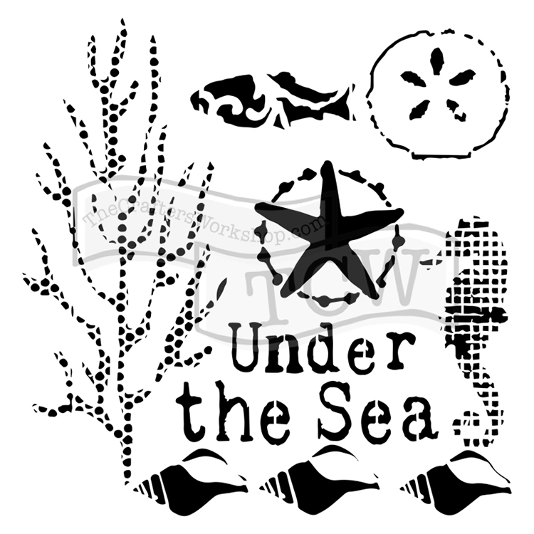 the crafters workshop under the sea 6x6 doodling templates