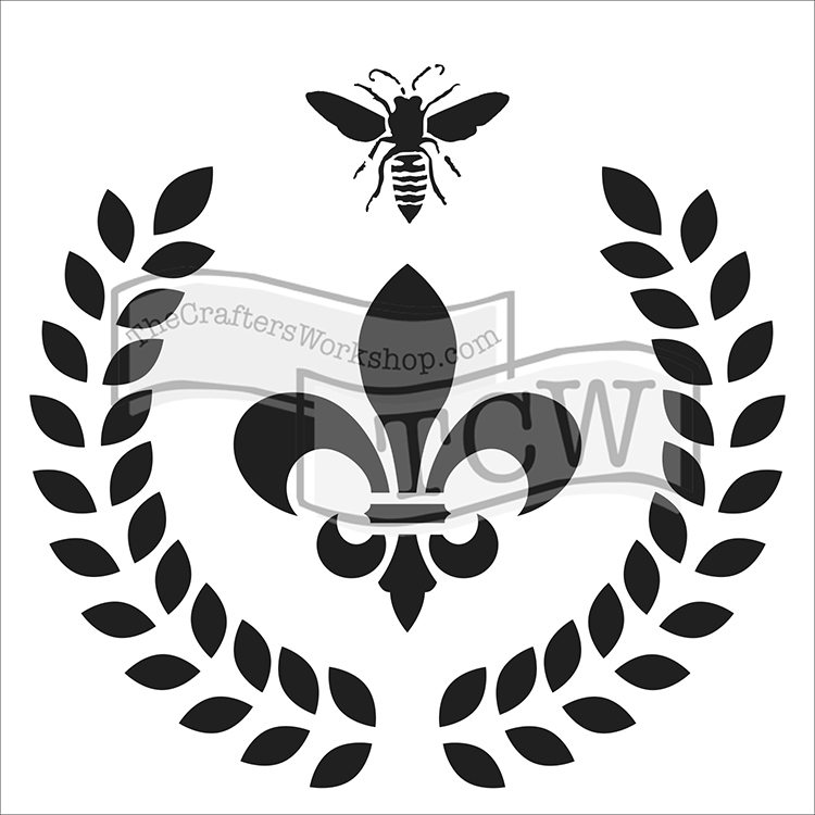 The Crafters Workshop Laurel Wreath 6x6 Doodling Template