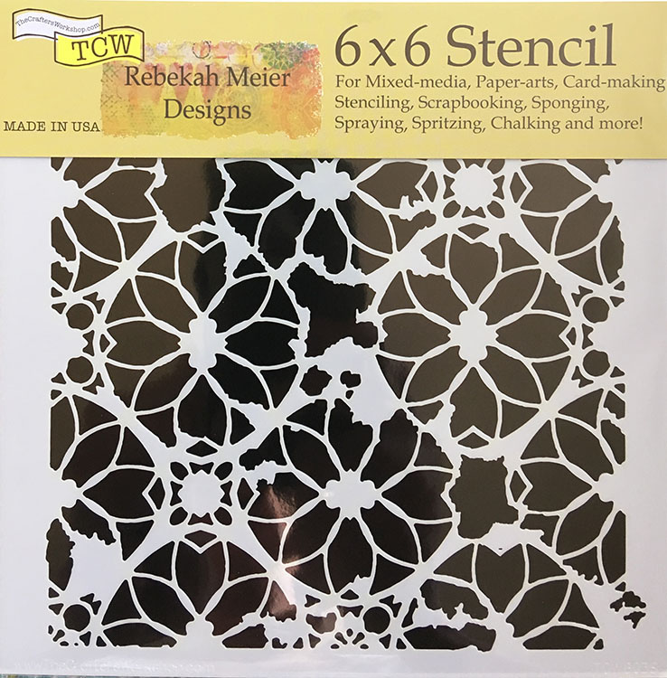 The Crafters Workshop Distressed Lace 6x6 Doodling Templates