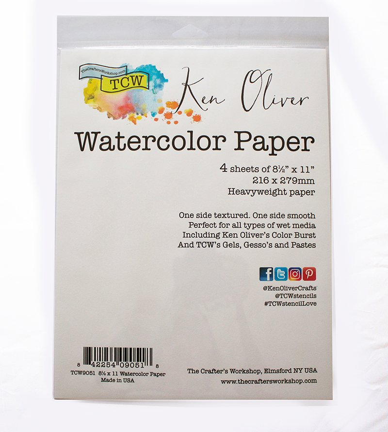 The Crafter's Workshop - 8.5 x 11 - Watercolor Paper Pack
