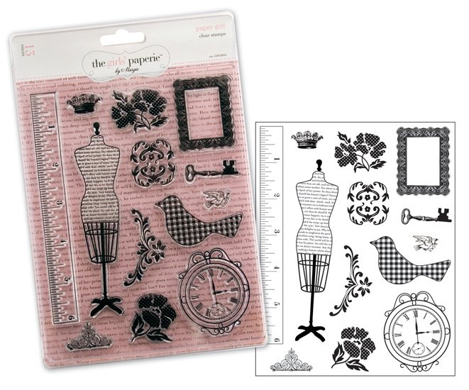 the girls paperie paper girl collection clear acrylic stamps  advantus the girls paperie paper girl collection clear acrylic stamps paper girl