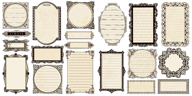 creative imaginations narratives by karen russell collection die cut pieces cream journaling frames