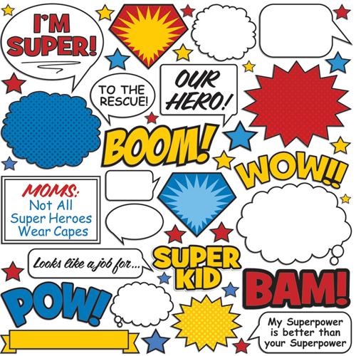 Creative Imaginations Super Hero Collection Die Cut