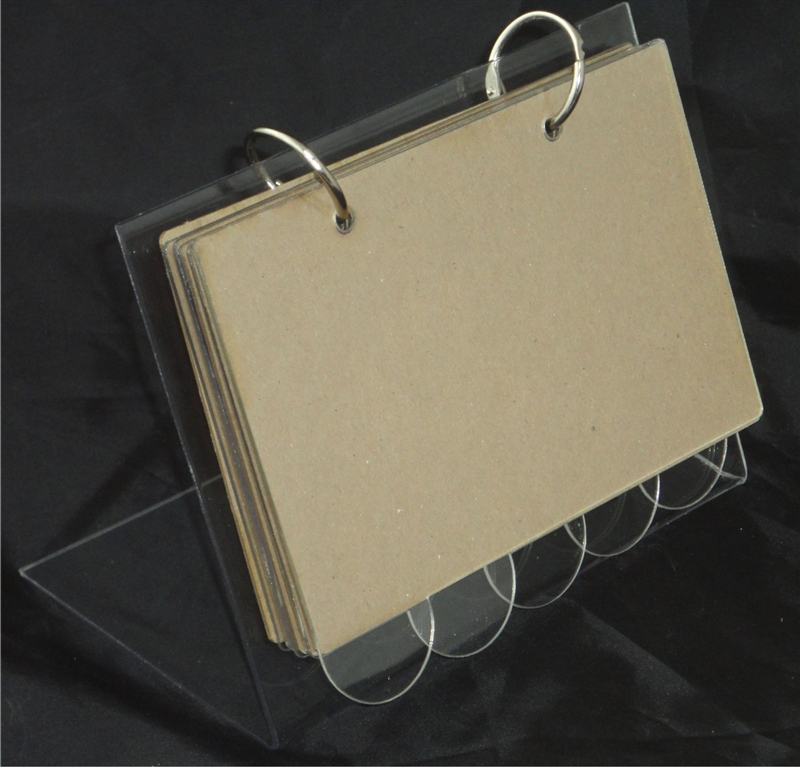Clear Scraps Recipe Stand With Acrylic Tabs And Chipboard