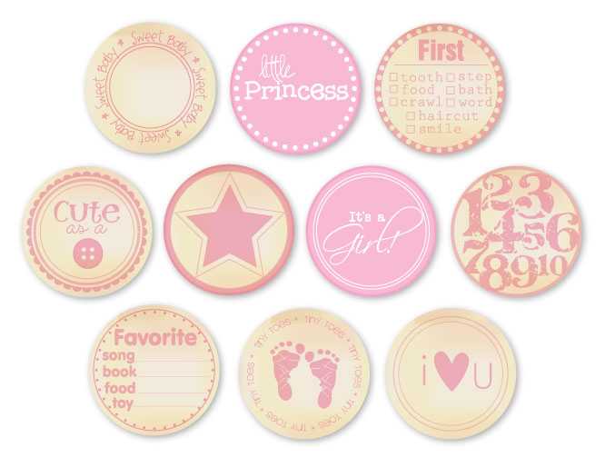 Chic Tags Delightful Paper Tags Vintage Baby Girl Embellishments