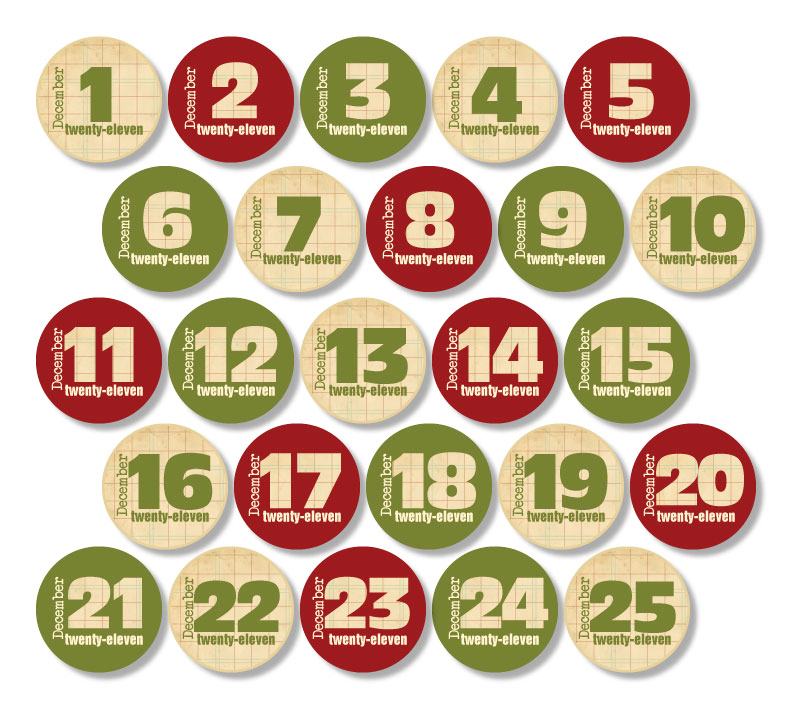 Advent Calendar Numbers Printable | New Calendar Template Site