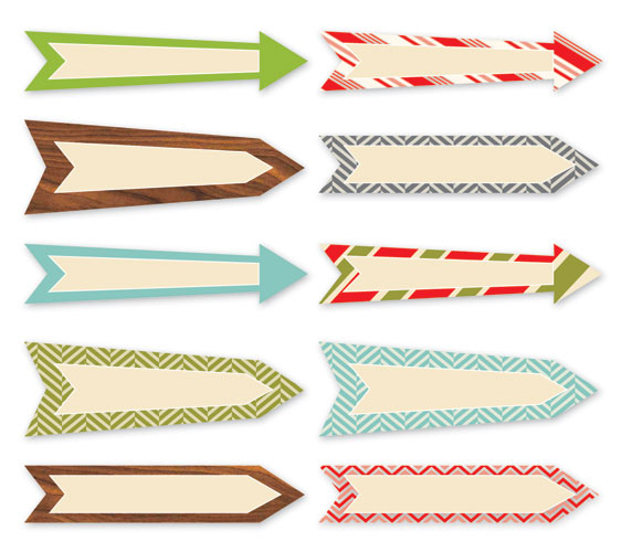 Tags - Christmas - 25 Days Arrows - Set of 10