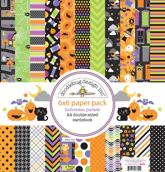 Doodlebug Design Halloween Parade Collection 6 X 6 Paper Pad