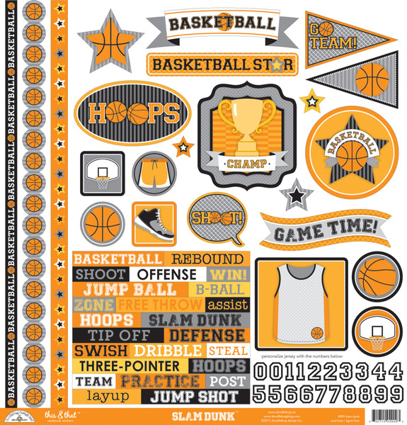 Doodlebug Design Slam Dunk This And That Stickers