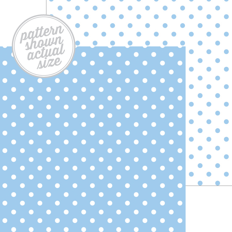 Doodlebug Design Bubble Blue Swiss Dot Petite Print Paper