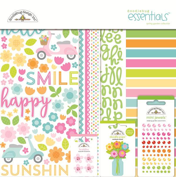 Doodlebug Design   Spring Garden Collection   Essentials Kit