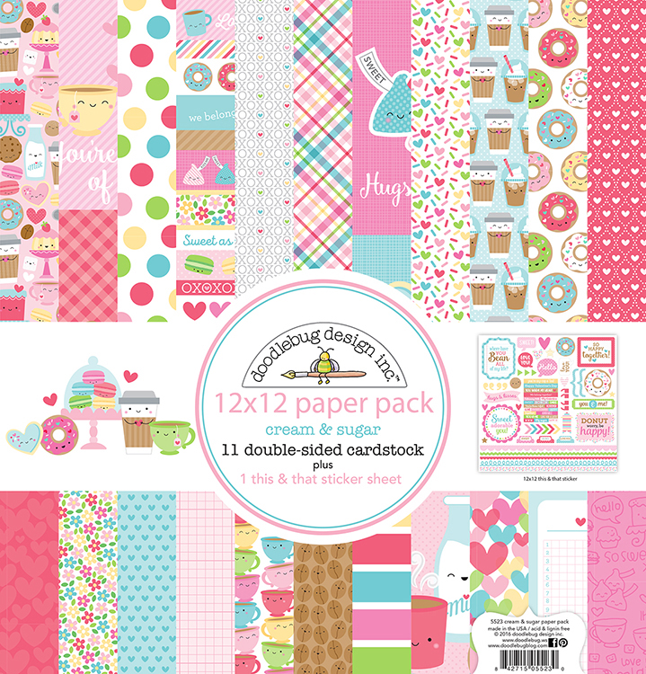Doodlebug Design Cream & Sugar 12x12 Paper Pack
