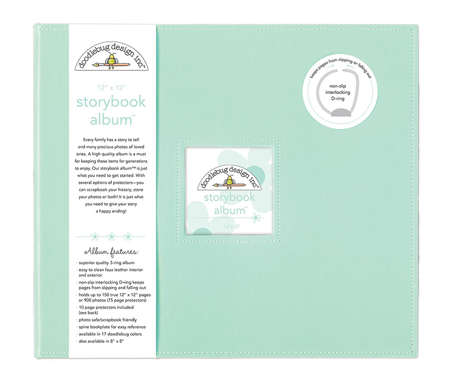 Doodlebug Design Mint 12x12 Storybook Album