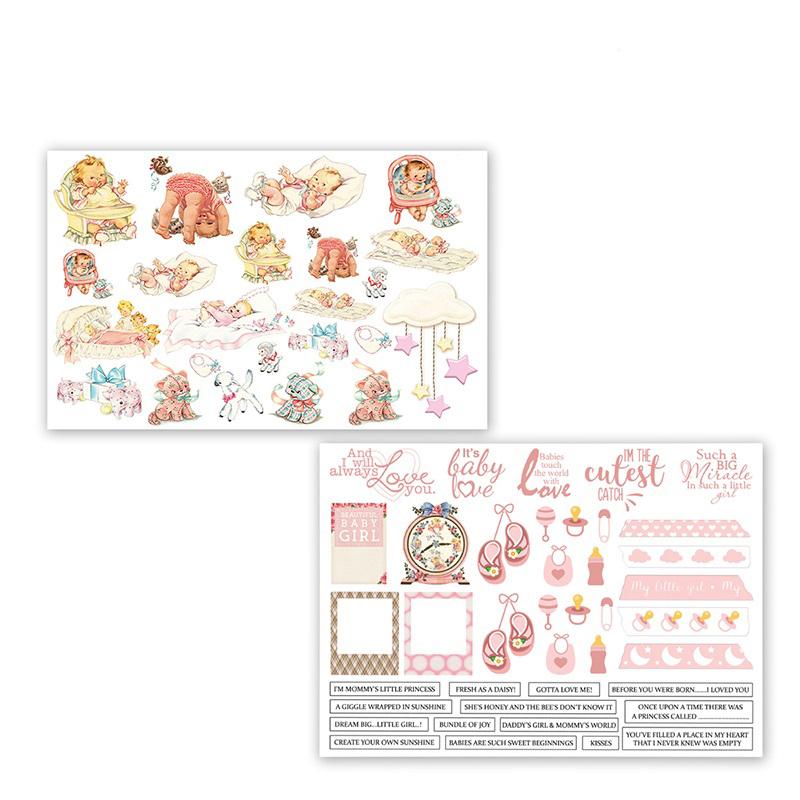 Dress My Craft Charming Baby Girl Motif Sheet