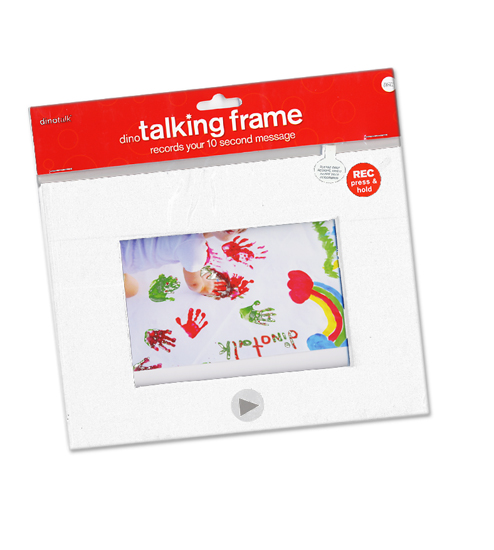 Dinotalk - Naked Collection - Recordable Talking Frame - White - 4 x 6