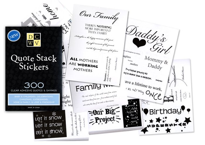 Die cuts with a view quote stack stickers 300 sayings and quotes clear adhesive