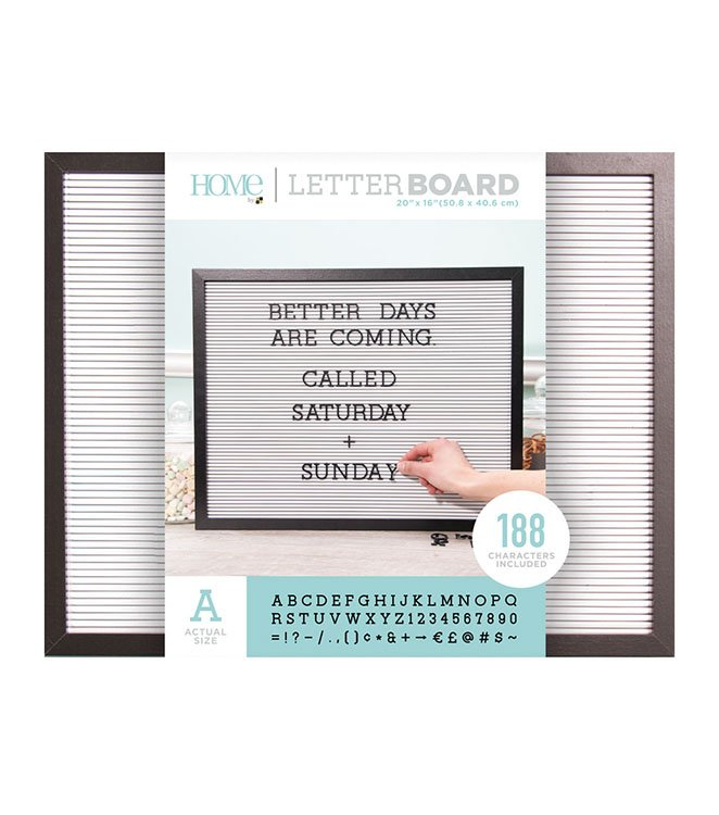 Die Cuts with a View 20x16 Black Frame with White Letter Board