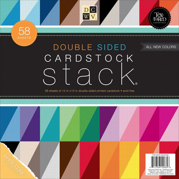 DCWV Double Sided White Core Cardstock 12x12 in