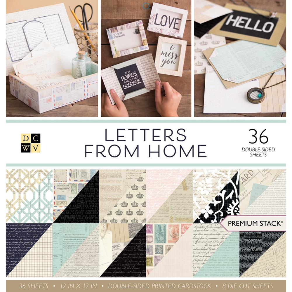 die cuts with a view letters from home collection paper stack 12 x
