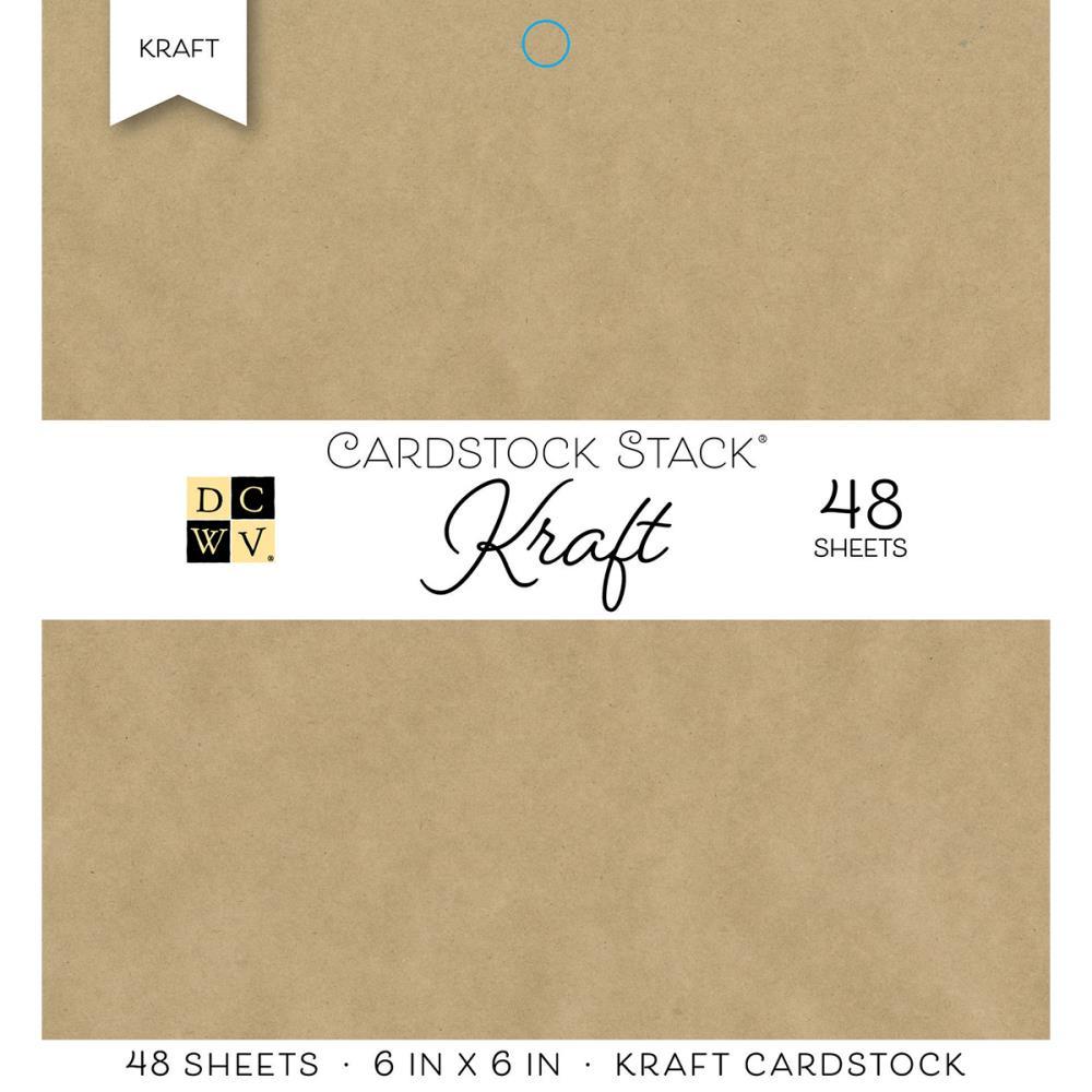 DCWV Kraft 6x6 inck paper pad