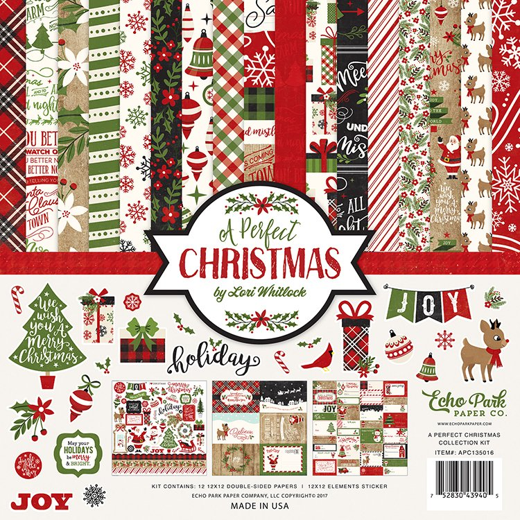 Echo Park A Perfect Christmas 12x12 Collection Kit