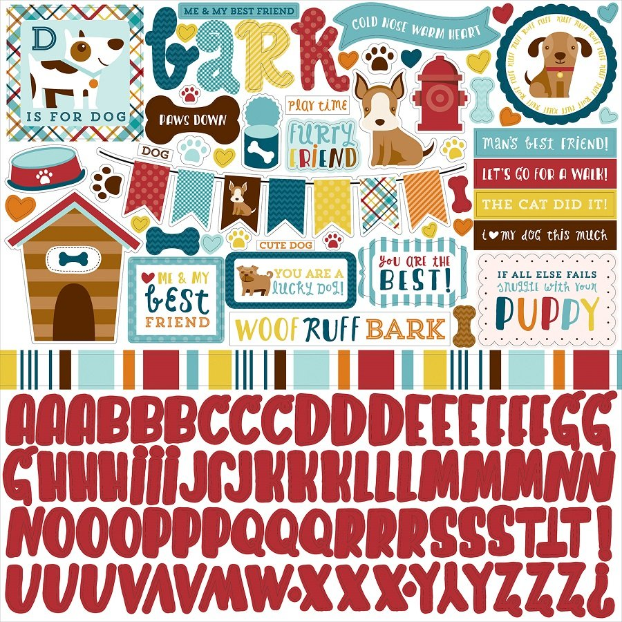 Scrapbook paper collections - Echo Park Bark Collection 12 X 12 Cardstock Stickers Elements