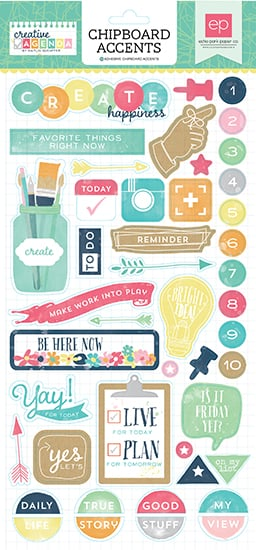 Echo park creative agenda chipboard stickers for Planner casa online gratis