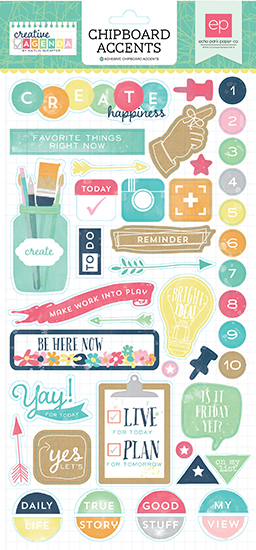 Echo Park Creative Agenda Chipboard Stickers