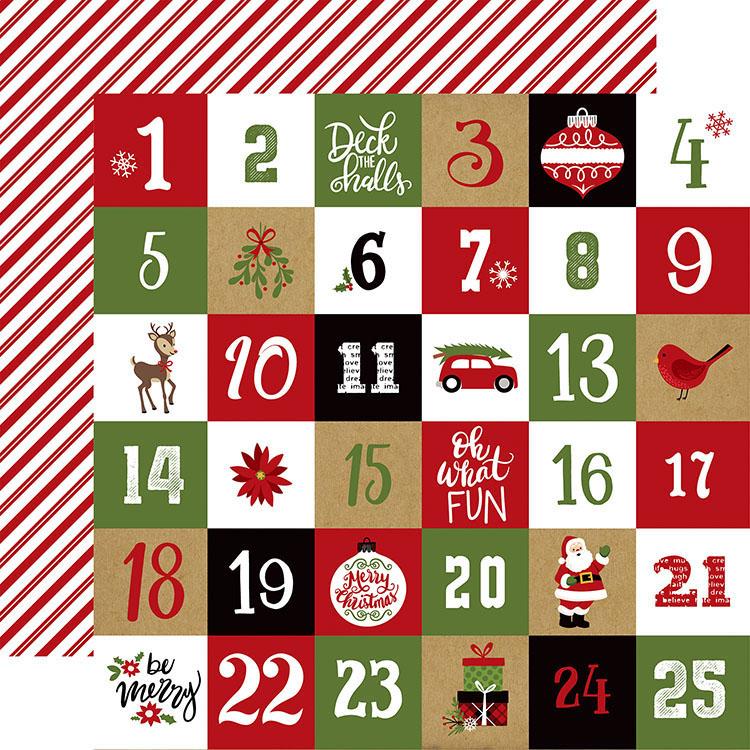 Christmas Countdown.Echo Park Celebrate Christmas Countdown Paper