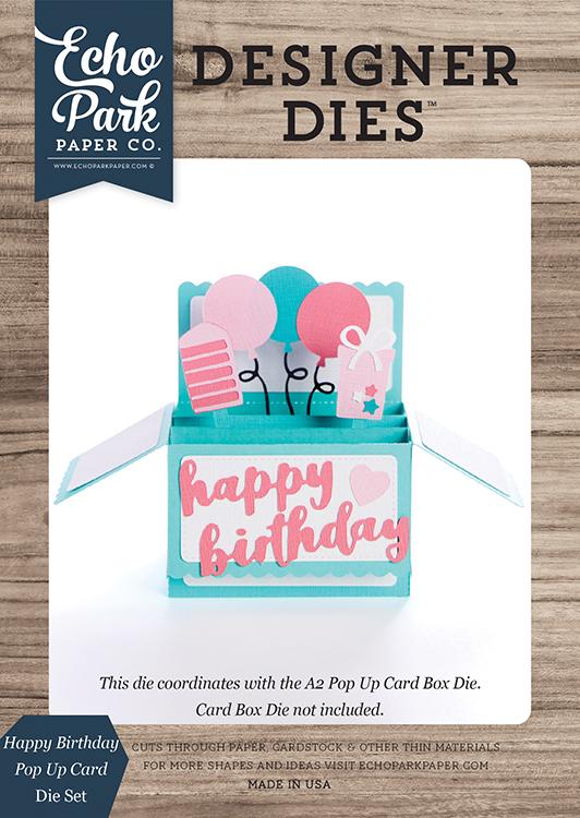 Echo Park Happy Birthday Pop Up Card Designer Dies
