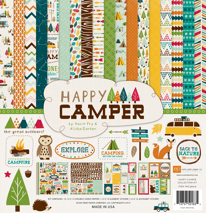 Echo Park Happy Camper 12 X 12 Collection Kit