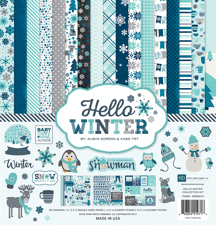Echo Park Hello Winter 12 X 12 Collection Kit