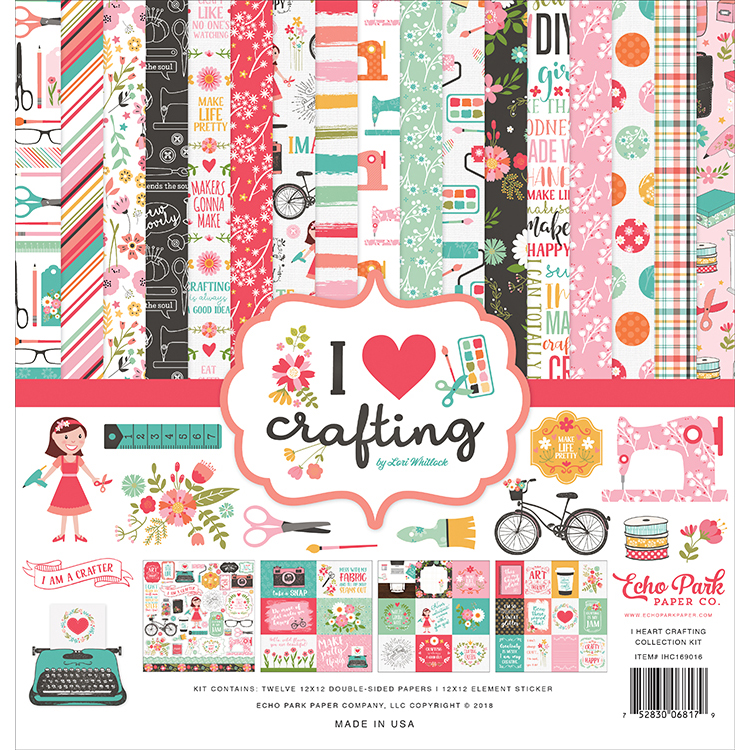 Echo Park Paper I Heart Crafting Collection
