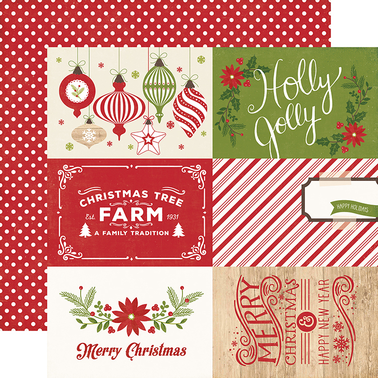 Echo Park I Love Christmas 4 x 6 Journaling Cards Paper
