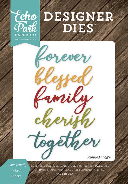 Echo Park I Love Family Collection Designer Dies Word