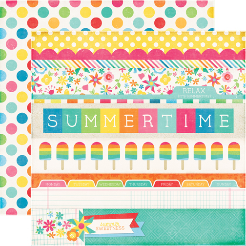 78f22e006dbe Echo Park - I Love Sunshine Collection - 12 x 12 Double Sided Paper - Border