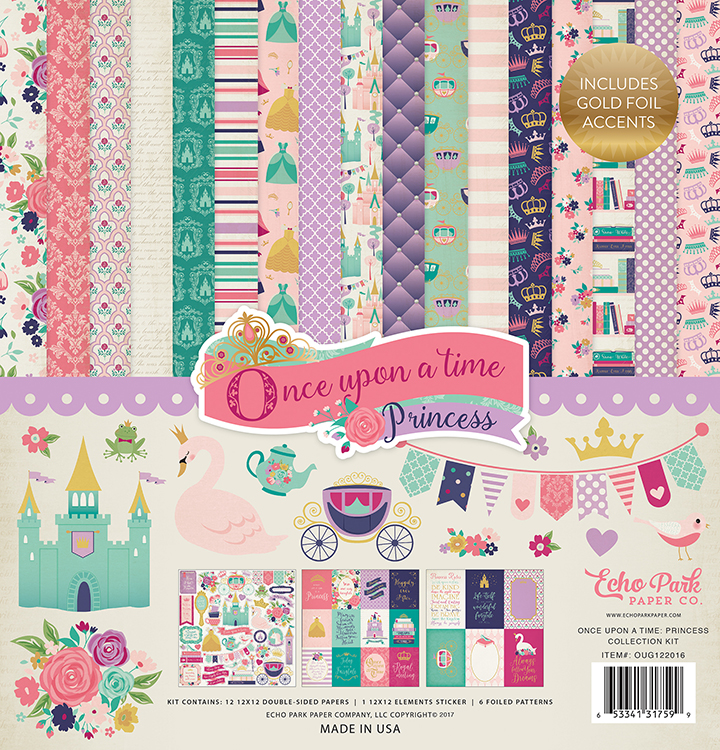 Echo Park Once Upon A Time Princess 12x12 Collection Kit