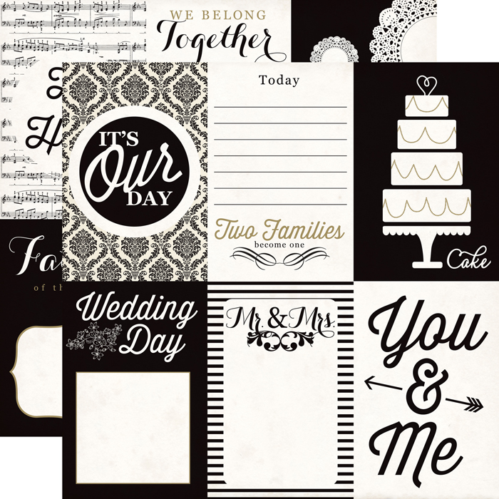 echo park you and me collection 12 x 12 double sided paper wedding