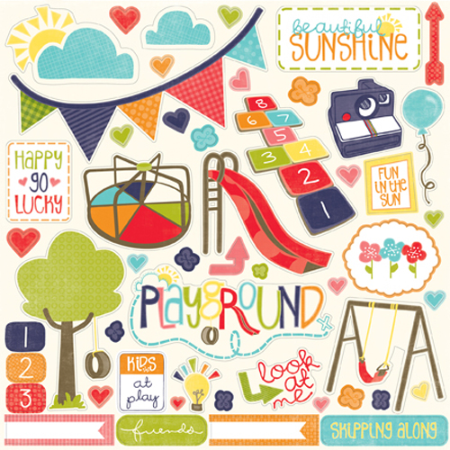 Echo Park Playground Collection 12 X 12 Cardstock