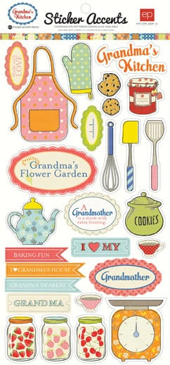 Echo park grandma 39 s kitchen collection cardstock stickers for Planner cucina gratis