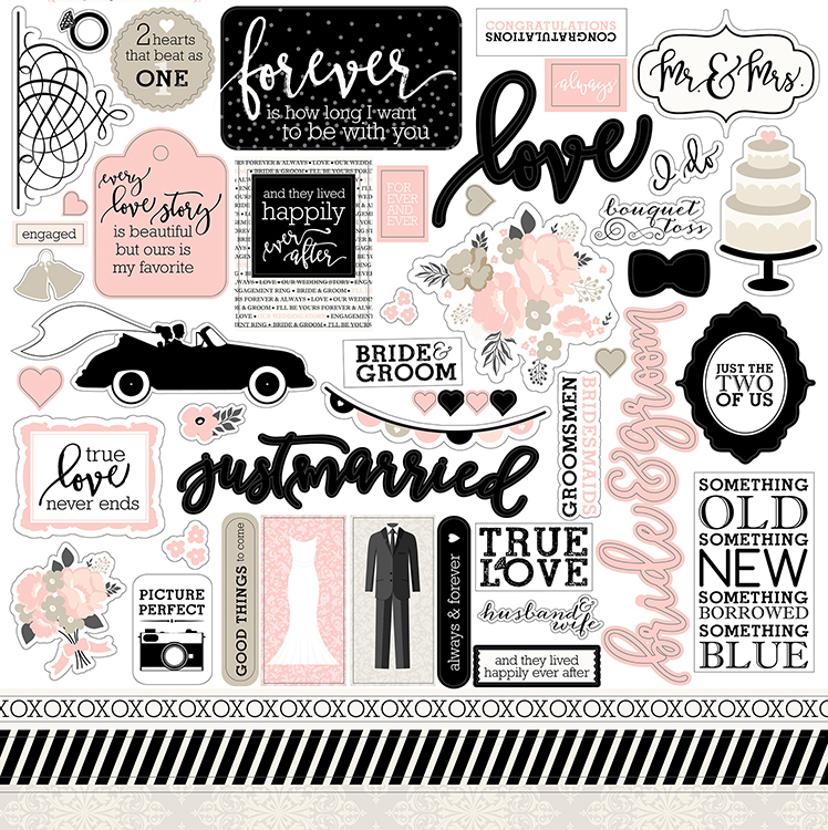 Echo Park Wedding Bliss Stickers