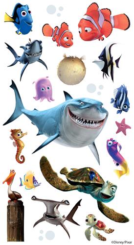 Ek success disney finding nemo classic stickers for Disney fish names