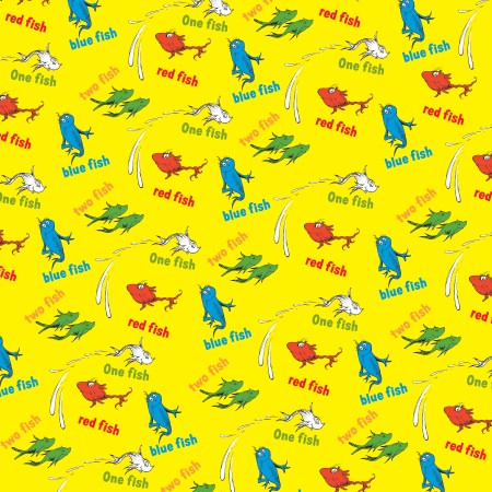 Seuss  Fish  Fish on Ek Success Dr  Seuss Patterned Paper   One Fish Two Fish  Clearance
