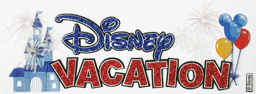 EK Success Disney Vacation Title 3D Stickers