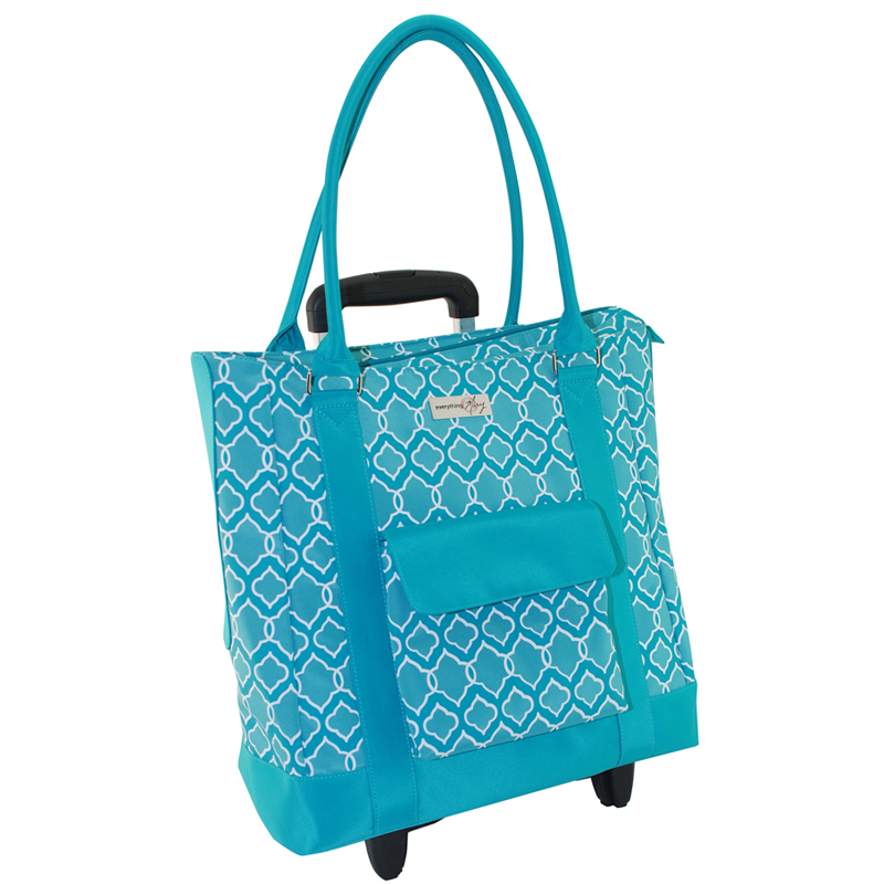 Everything Mary - Rolling Yarn Tote - Blue 464a432c3a